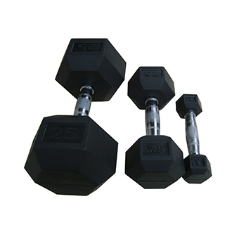 Rubber ,pu coated dumbbell